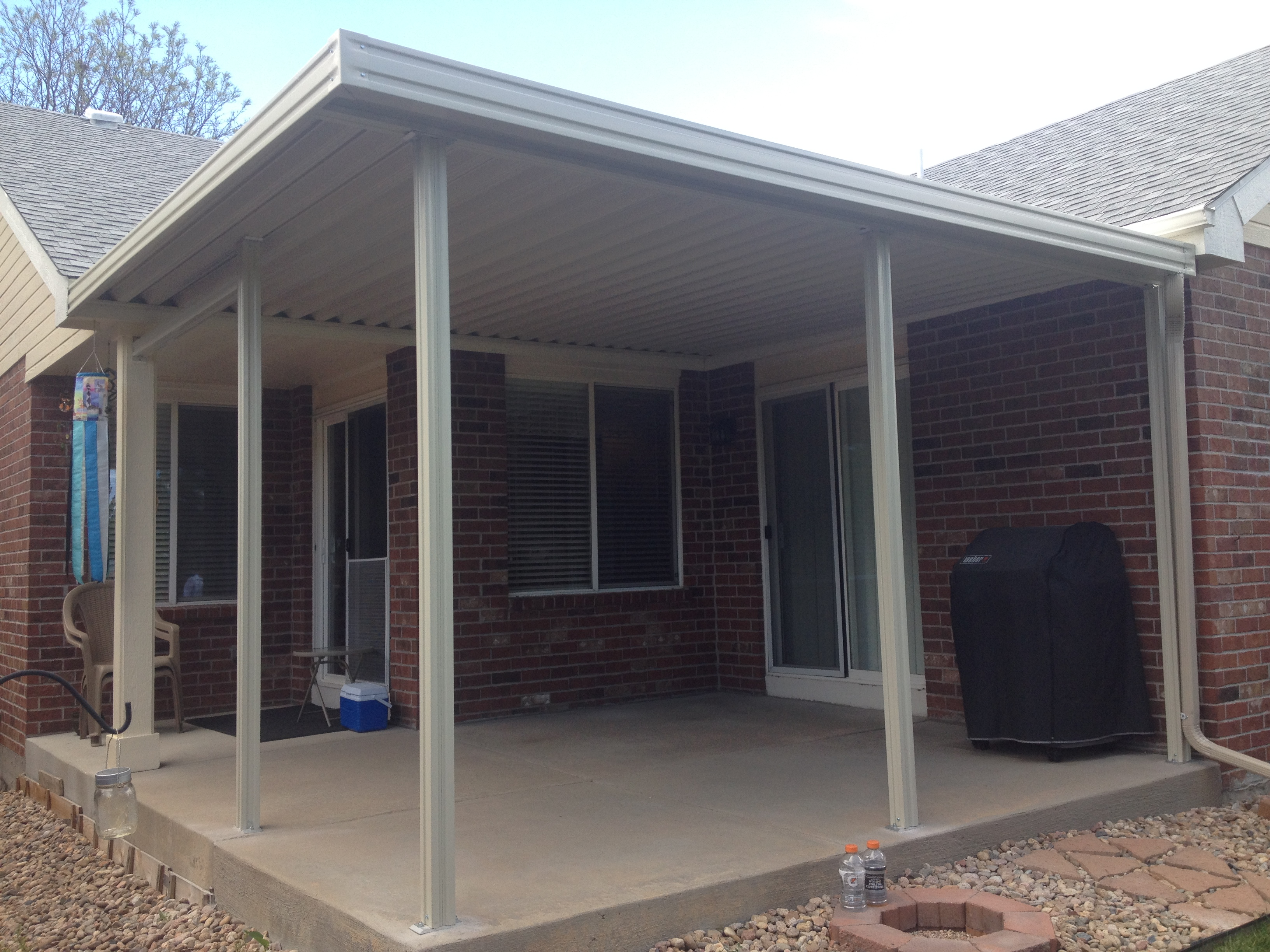 awning nov for antonio b steel metal porch patios san awnings new tx braunfels patio custom cover